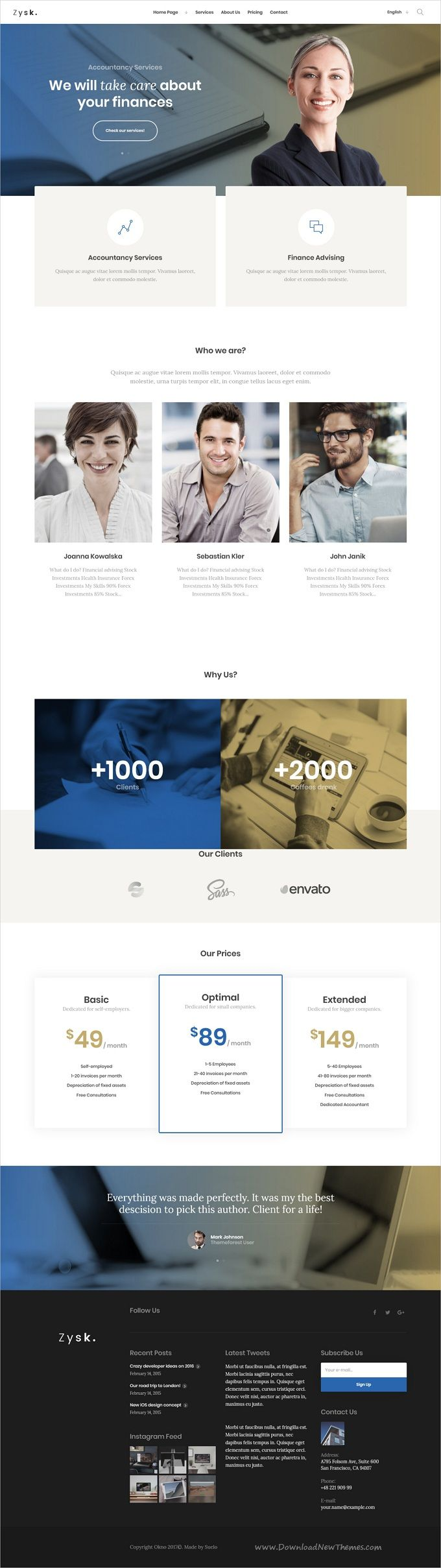 Zysk is smooth and stylish 7in1 responsive #WordPress theme for #accountancy, business, #finance and consulting services professional website download now..