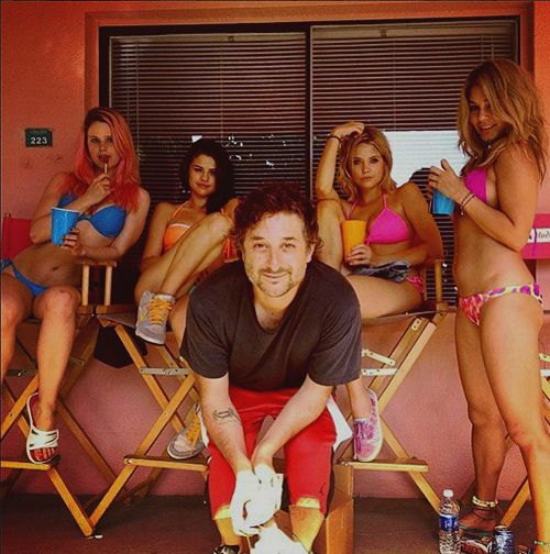 Harmony Korine while filming Spring Breakers (2012)