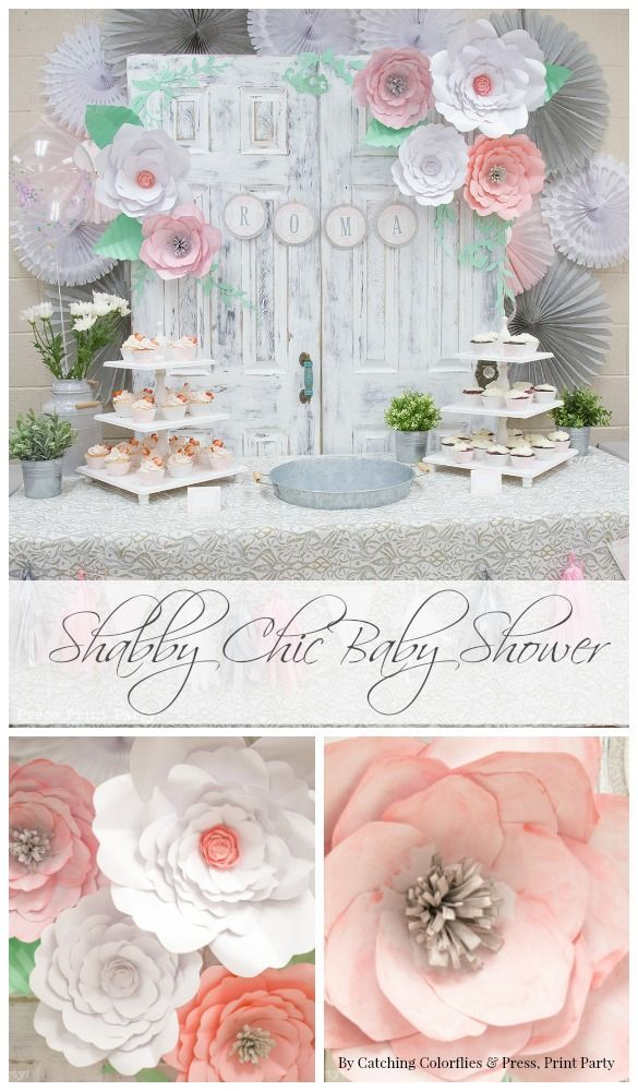 Decorate For Baby Showers With Diy Paper Flower Patterns Shabby