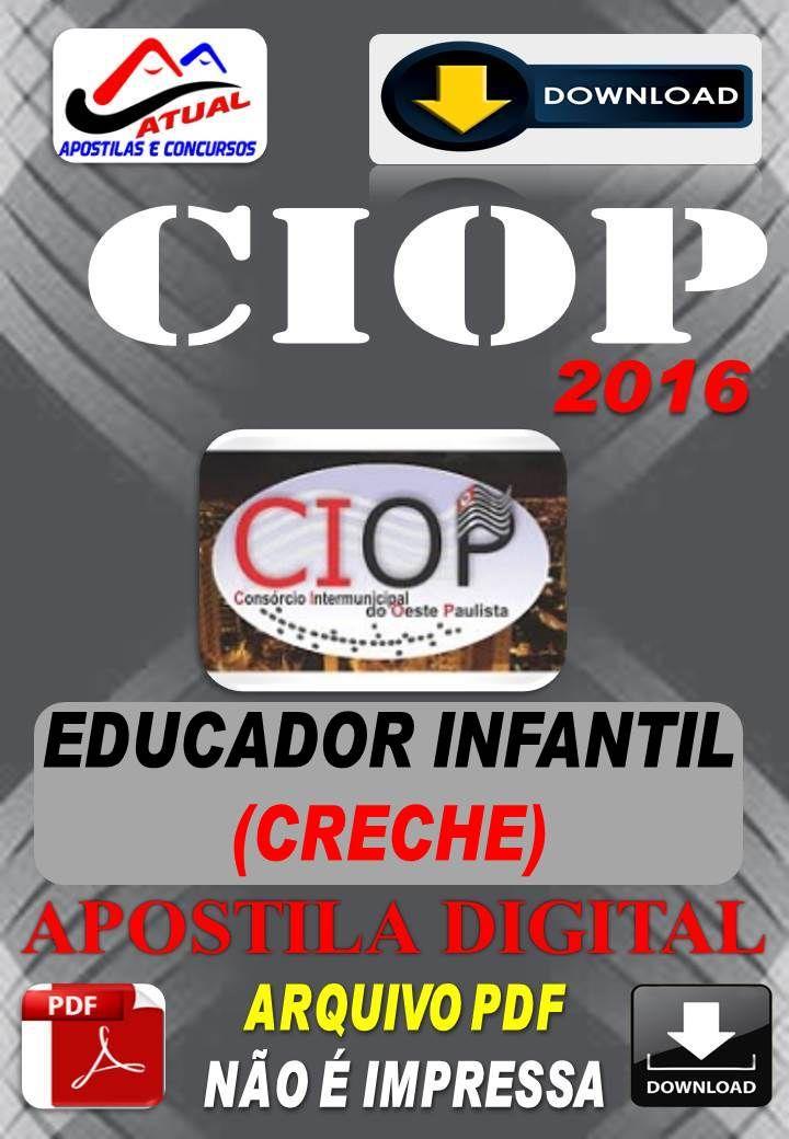 Apostila Digital Concurso Ciop Presidente Prudente Sp Educador Infantil Creche 2016