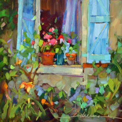 Sombras de Francia, la pintura original del artista Dreama Tolle Perry | DailyPainters.com