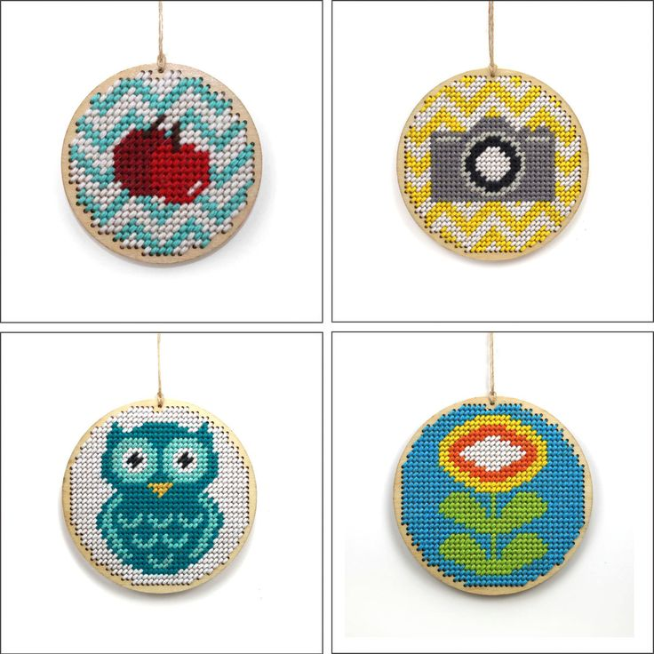 "2.5"" wooden needlepoint / cross stitch blank disc"