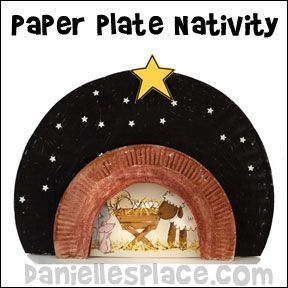 Nativity Paper Plate Craft for Sunday School from www.daniellesplace ...