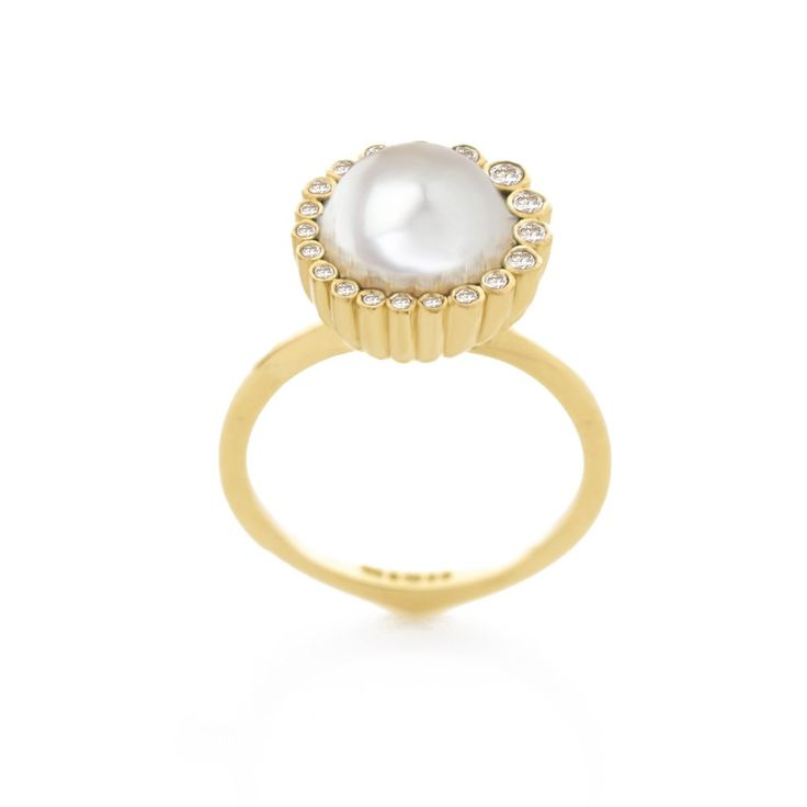 Aditi White Pearl Ring
