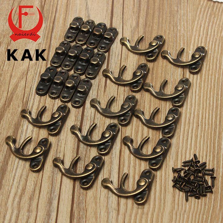 Kak 12 pcs 34x28mm antique bronze besi gembok pengait pengait kunci untuk mini kotak perhiasan dengan sekrup untuk furniture hardware