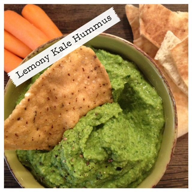 Lemony Kale Hummus via @Kate Scarlata  Note: Limit serving size to 1/4 to 1/3 cup to keep it FODMAP friendly.