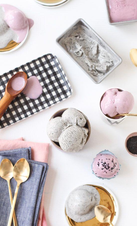 Unique Ice Cream Flavors: Taro and Black SesamePaper and Stitch