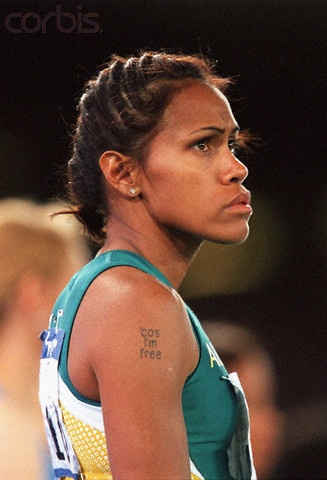 Cathy Freeman at 2000 Olympic Games - DWF1-137233 - Rights Managed - Stock Photo - Corbis