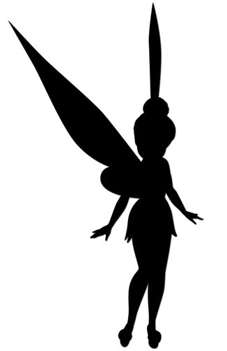 21 best fairy silhouette images on pinterest silhouettes for Tinkerbell pumpkin template free
