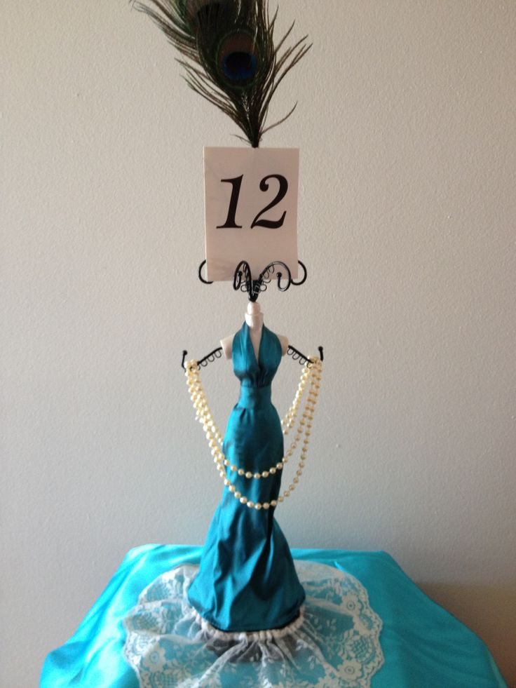 Mannequin Centerpiece With Table Number Azaleiha S 18th