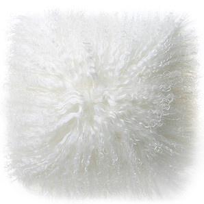 Mongolian Fur Cushion - Ivory