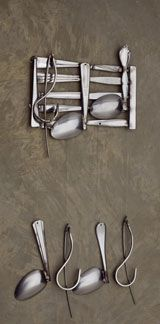 """A windchime made out of spoons that I recently purchased to remind me that even when I'm low on """"spoons"""" I can still make music!"""