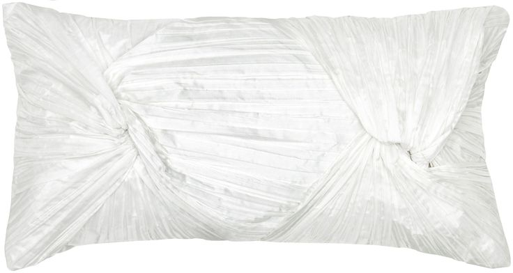 """Twist and Ruching Natural Pillow Cover (11"""" x 21"""")"""