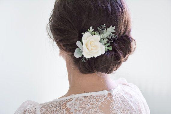 bruiloft hair clip ivoor bloem clip bruids hair clip floral