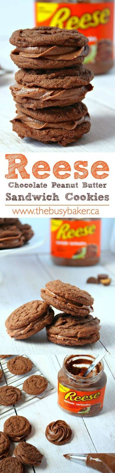 The Busy Baker: REESE Peanut Butter Chocolate Sandwich Cookies
