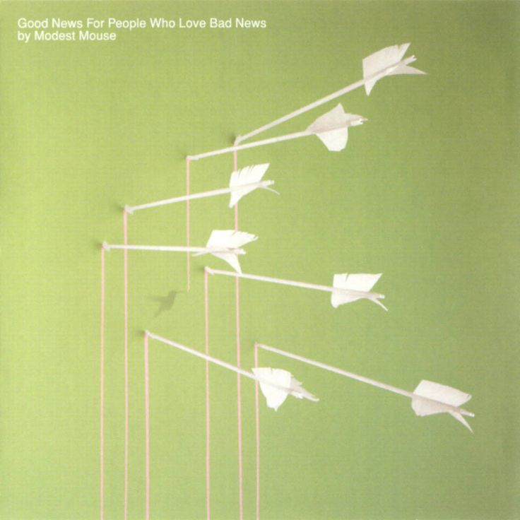 Modest Mouse Good News for People Who Love Bad News on black