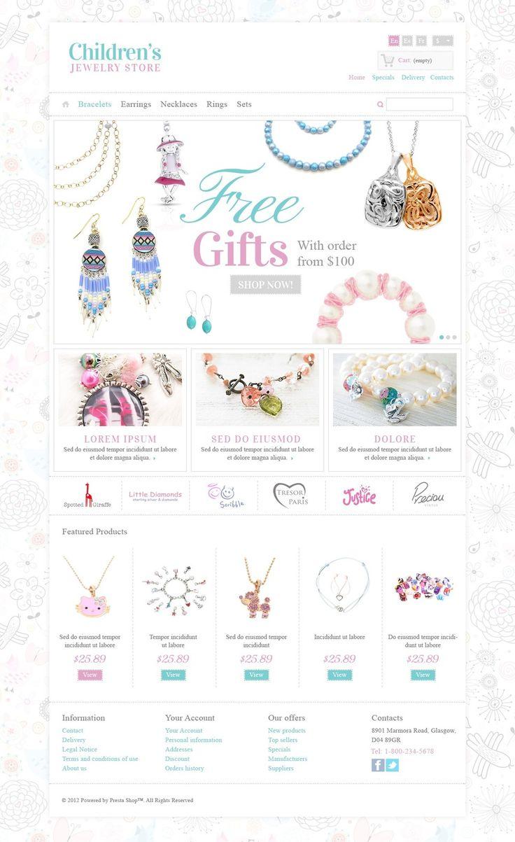 17+ Best Jewelry Store PrestaShop Themes - Childrens Jewelry