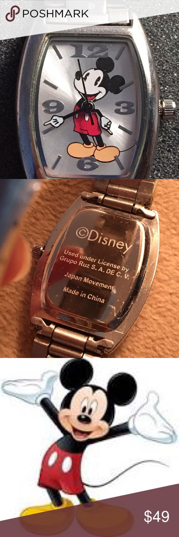 DISNEY MICKEY MOUSE WATCH Mickey Mouse wrist watch,  in very good working condition.  Just needs a new battery. I never worn the watch. Disney Accessories Watches