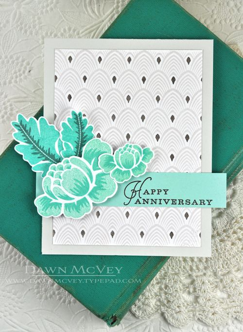 Happy Anniversary Card by Dawn McVey for Papertrey Ink (March 2014)