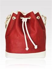 Shine Bright Leather Handbag - www.niclaire.com.au #leather #handbag #ladieshandbag #metallicleather #fashion #totebag #tote #white #red #shoponline #niclaire