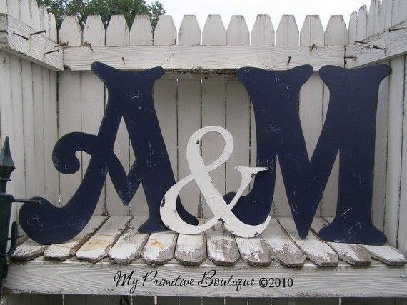 large wooden letters vintage cut out letters includes two letters and one ampersand symbol any letters any color shabby chic letters