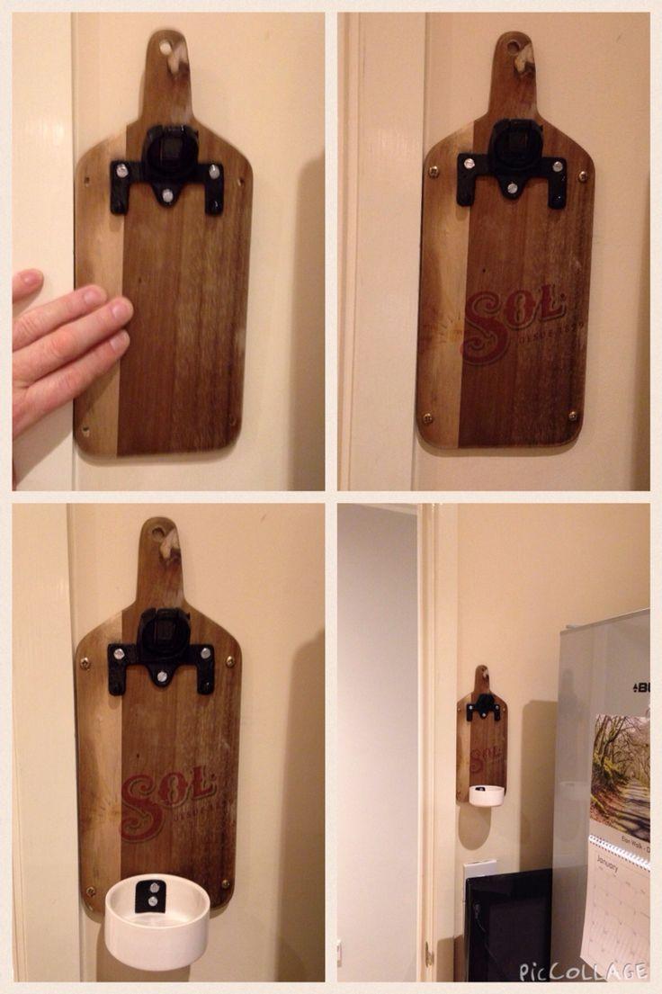 Home made Sol branded bottle opener (1 x cutting board, 1 x bottle opener, 1 x desert bowl & inkjet printer)