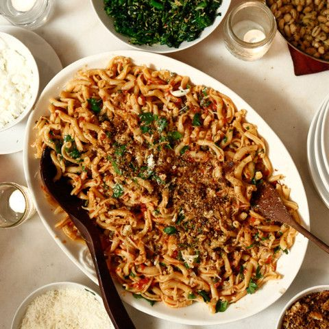 Spaghettata di Mezzanotte - Pasta with Anchovies, Capers and Tomato Sauce