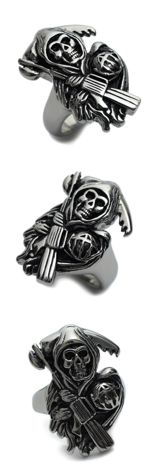 [Visit to Buy] Stainless Steel SONS Mens Ring Size  8 9 10 11 R456 #Advertisement