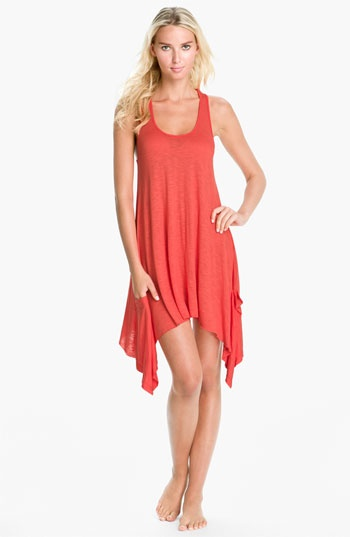$38 Super cute casual dress for bridesmaids:  Elan 'Handkerchief' Cover-Up Dress available at #Nordstrom