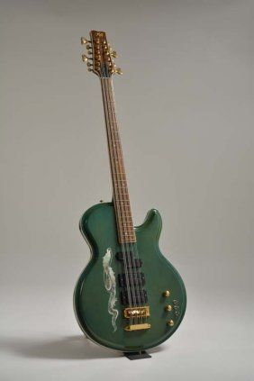 Kids Green Dragon 12-String Bass owned by Nikki Sixx