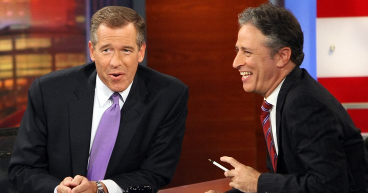 Kings of Their Crafts, but on Divergent Paths - Brian Williams's and Jon Stewart's Common Ground