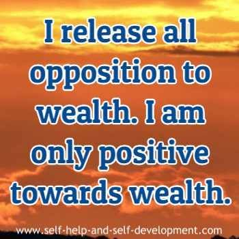 Wealth affirmation for releasing opposition to wea…