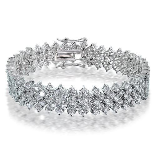 Lattice CZ Diamond Bridal Bracelet