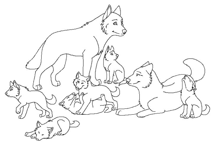 Wolf Coloring Pages | Puppy coloring pages, Animal ...