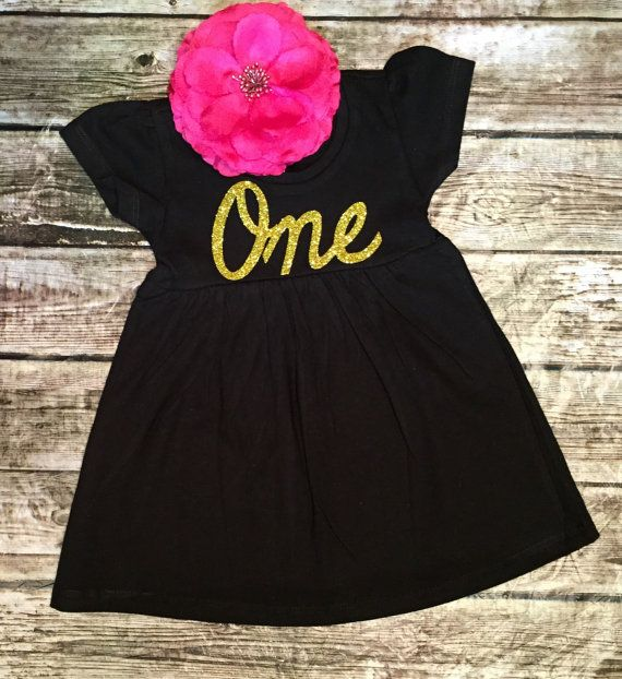 $13.99. First Birthday Dress, Black & Gold Sparkle, Baby Girl 1st Birthday, Girl First Birthday, Smash Cake 1st Birthday Outfit