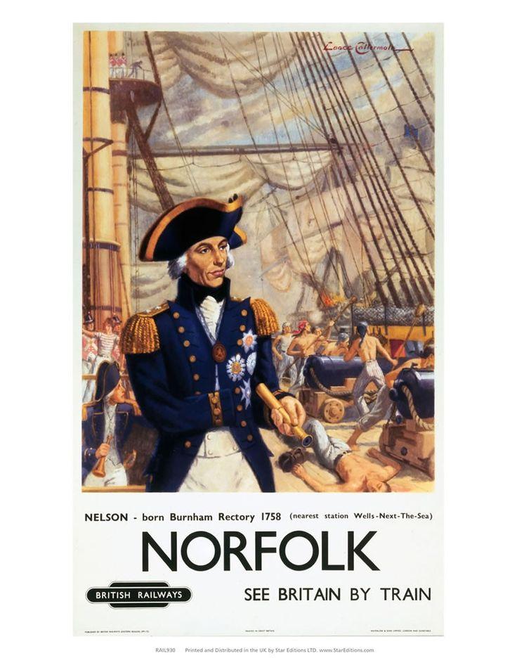 Norfolk - Nelson born burham rectory 1758 Art Print
