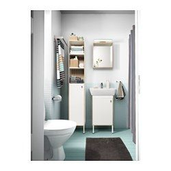 """IKEA - TYNGEN, High cabinet, , Suitable for a smaller bathroom, as the cabinet frame is just 11⅞"""" wide.Adjustable feet for increased stability and protection against wet floors."""