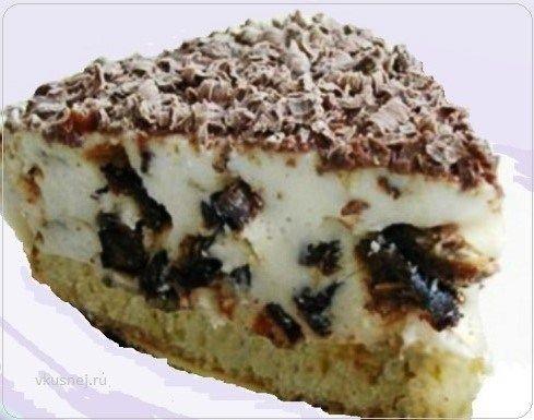 Торт сметано-творожной Нежность Торт сметано-творожной Нежность это изысканное лакомство, имеет прекрасное сочетание творога, сметаны и чернослива. Чернослив придает десерту пикантную нотку, а см…