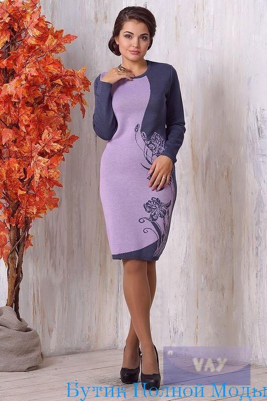 Платье 2108 Серый / Сапфир