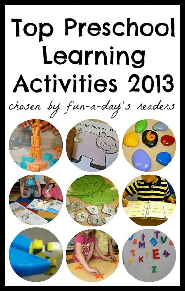Fun-A-Day's Top Preschool Activities of 2013!  10 learning activities for preschoolers, kindergartners, and homeschoolers alike!