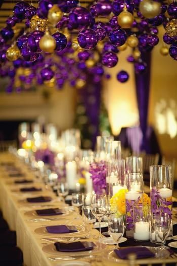 Purple christmas #wedding #decor https://www.facebook.com/pages/Sister-to-Sister-Decorations-by-Design/249363945081646