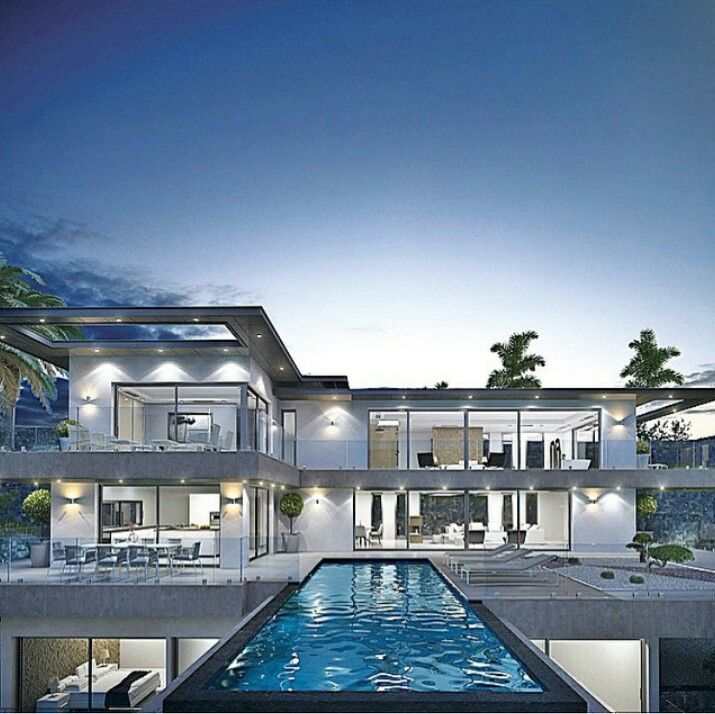 Modern Small Luxury Homes: Woowww #luxurymodernhomes #luxurymodernpools