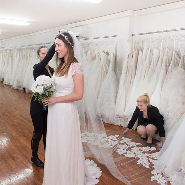 Have you visited our Sample Studio yet? It's across the street from the main salon and inside are discounted sample dresses, accessories & shoes that you're able to take home the same day!  Click the link in bio for more info!  #Regram via @kleinfeldbridal