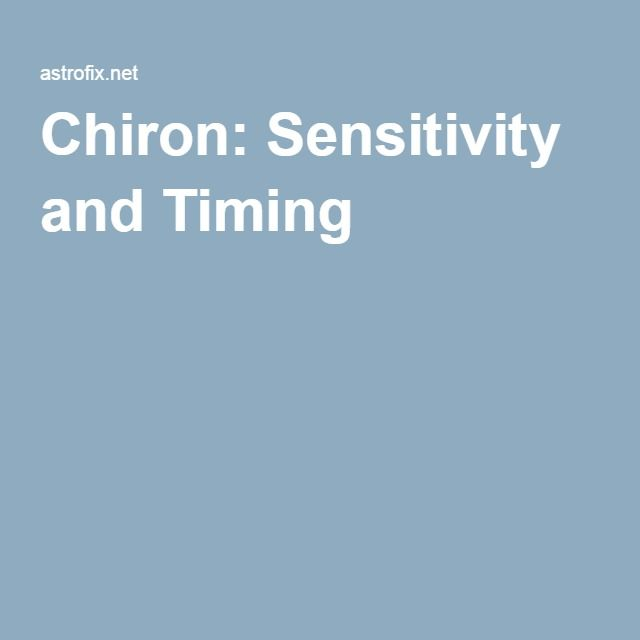 Chiron: Sensitivity and Timing