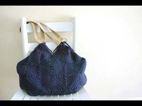 Crochet Granny Square Tote - B.hooked Crochet