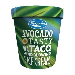 Ramar Foods, producer of Magnolia ice cream products, introduced a new green avocado flavor to its all-natural, tropical ice cream line. The avocado flavor joins the other exotic, tropical flavors like mango, coconut, lychee, Thai tea and purple yam.