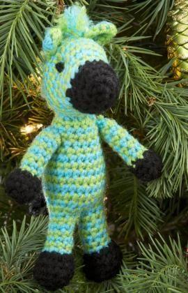 Zippy Zebra Ornament Free Crochet Pattern from Red Heart ...