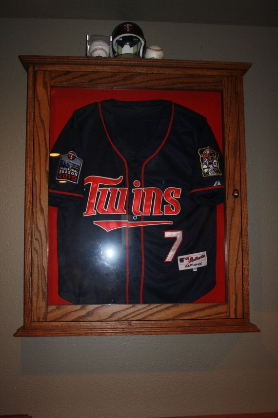 custom size large shadow box jersey display case oak