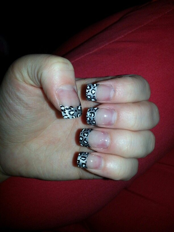 Black grey and white leopard