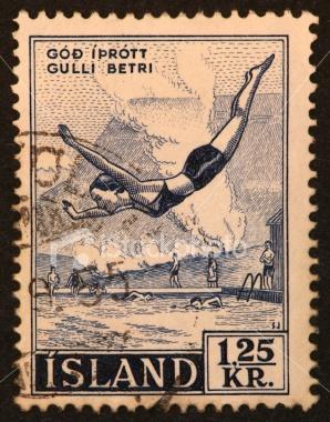 Stamp, Iceland 1955